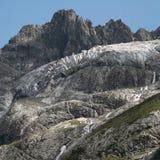 Detaljsikt av glaciären Arkivbilder