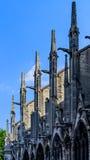 Detaljsikt Notre Dame de Paris Arkivfoton