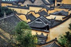 Detaljsikten på gamla stads- byggnader av Chongqing Royaltyfri Foto