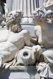 detaljspringbrunn vienna Arkivfoton