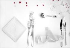 detaljtabellbröllop Fotografering för Bildbyråer