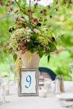 detaljtabellbröllop Arkivbilder