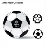 Detaljvektor - fotboll Arkivbilder