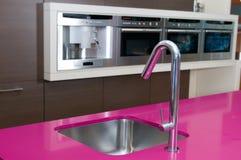 Detall da cozinha moderna Fotos de Stock Royalty Free