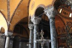 Detalla columnas de Hagia Sophia imágenes de archivo libres de regalías