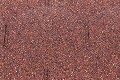 Detalla la tabla roja del asfalto del od Foto de archivo libre de regalías