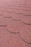 Detalla la tabla roja del asfalto del od Fotos de archivo