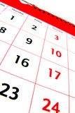 Detalle 2 del calendario Imagen de archivo libre de regalías
