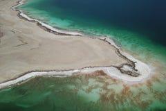 Detalle aéreo del mar muerto imagen de archivo