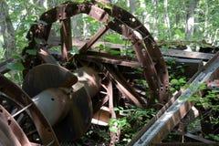 Detalle abandonado de la torre de perforación de aceite Imagen de archivo libre de regalías