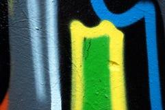 Detalle abstracto de la pintada Fotografía de archivo