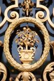Detalle adornado de la puerta imagenes de archivo