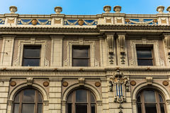 Detalle adornado del edificio en Dallas Foto de archivo libre de regalías