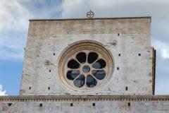 Detalle agradable del edificio de una ciudad española antigua Gerona Fotos de archivo