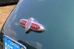Detalle americano clásico de la parte posterior del coche Foto de archivo