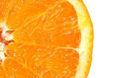 Detalle anaranjado de la rebanada Imagen de archivo