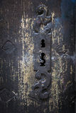 Detalle antiguo de la cerradura de puerta Fotografía de archivo libre de regalías