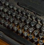 Detalle antiguo de la máquina de escribir fotografía de archivo