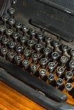 Detalle antiguo de la máquina de escribir imágenes de archivo libres de regalías