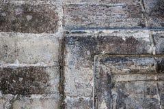 Detalle antiguo de la pared de piedra Foto de archivo libre de regalías