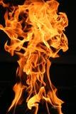 Detalle ardiente de la llama Foto de archivo