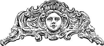 Detalle arquitectónico barroco stock de ilustración