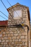 Detalle arquitectónico - casa vieja en Sutivan Foto de archivo