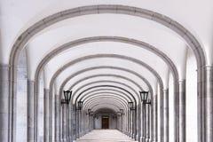 Detalle arquitectónico de la abadía benedictina Fotos de archivo