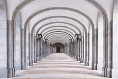 Detalle arquitectónico de la abadía benedictina Foto de archivo libre de regalías