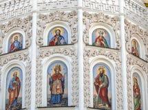 Detalle arquitectónico de la pared de la catedral. Foto de archivo