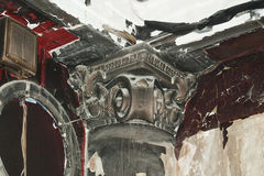 Detalle arquitectónico de la víctima del fuego Foto de archivo libre de regalías