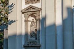 Detalle arquitectónico de Roman Catholic Baroque San Giuseppe imagen de archivo