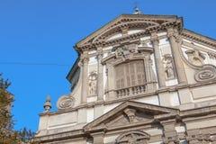 Detalle arquitectónico de Roman Catholic Baroque San Giuseppe imagen de archivo libre de regalías