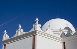 Detalle arquitectónico de San Xavier del Bac Mission imágenes de archivo libres de regalías