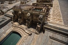 Detalle arquitectónico del monasterio benedictino Imágenes de archivo libres de regalías