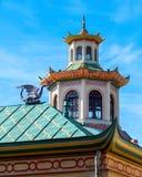 Detalle arquitectónico del pabellón histórico en estilo chino Fotos de archivo