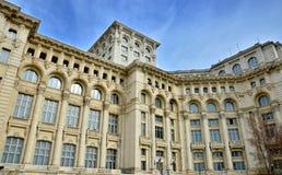 Detalle arquitectónico del palacio del parlamento Fotografía de archivo libre de regalías