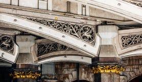 Detalle arquitectónico del puente de Westminster Fotos de archivo