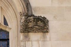Detalle arquitectónico del Tribunal Supremo Westminster, Parliament Square, Londres, Inglaterra, el 15 de julio foto de archivo libre de regalías