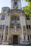 Detalle arquitectónico del Tribunal Supremo Westminster, Parliament Square, Londres, Inglaterra, el 15 de julio fotografía de archivo libre de regalías