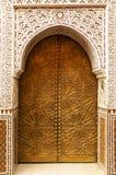 Detalle arquitectónico en Marrakesh imagenes de archivo