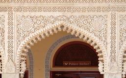 Detalle arquitectónico en palacio de la ciudad de Jaipur Imagen de archivo