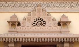 Detalle arquitectónico en palacio de la ciudad de Jaipur Imagen de archivo libre de regalías