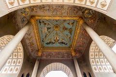 Detalle arquitectónico en Patuxai, Victory Gate Imagenes de archivo