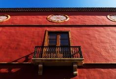Detalle arquitectónico en San Cristobal de la Laguna Imagen de archivo