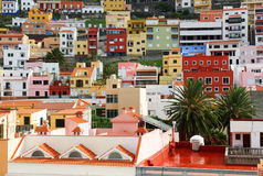 Detalle arquitectónico en San Sebastian de la Gomera Imágenes de archivo libres de regalías