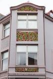 Detalle arquitectónico - fachada de un edificio de Art Nouveau Fotografía de archivo