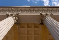 Detalle arquitectónico jónico del capital de columna foto de archivo libre de regalías