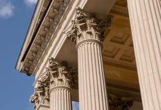 Detalle arquitectónico jónico del capital de columna fotos de archivo libres de regalías