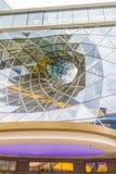 Detalle arquitectónico de una alameda de compras en Francfort Fotografía de archivo